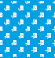scissors paper pattern seamless blue vector image