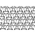 seamless black and white background with cute and vector image vector image