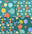 seamless colorful pattern set with circles vector image vector image