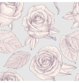 Seamless pattern with engraved roses vector image