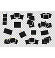 set of square frames on sticky tape pins and vector image vector image