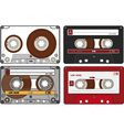 Set of the different Audio Cassettes vector image vector image