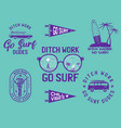 set surf concept banners vector image vector image