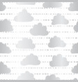 silver foil clouds seamless pattern vector image