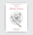 sketch - ravioli card italian vector image