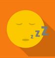 sleep smile icon flat vector image