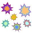 Star bursting boomComic book explosion set Hand vector image