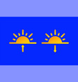 sunrise sunset weather forecast info icons set vector image
