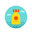 Sunscreen icon Summer Vacation vector image