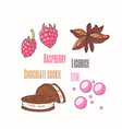 sweet toppings anise raspberry cookie vector image vector image