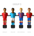 Table football foosball players Group D vector image vector image