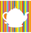 Tea pot menu funny background vector | Price: 1 Credit (USD $1)