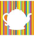 Tea pot menu funny background vector image
