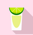 tequila glass icon flat style vector image