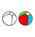 Toy beach ball for coloring book isolated on vector image vector image