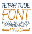 trendy modern capital uppercase english alphabet vector image