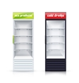 Two Empty Fridges Realistic vector image vector image