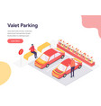 valet parking concept isometric design concept vector image