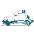 vintage armored car vector image