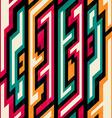 vintage geometric seamless pattern vector image