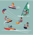 water sports and activities vector image vector image