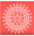 white spearhead mandala red background imag vector image vector image