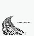 dirty tire tracks fading into the horizon vector image