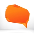 Abstract origami speech bubble EPS8 vector image