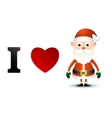 I love Santa Claus card vector image