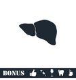 Liver icon flat vector image