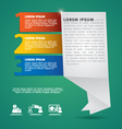 Abstract Infographic vector image vector image