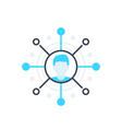 affiliate marketing concept icon on white