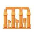ancient egypt temple stone columns or pillars vector image