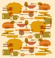 background kitchenware set vector image vector image