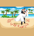 beach wedding vector image vector image