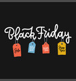 black friday lettering for sale with colorful vector image vector image
