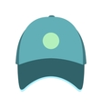 blue baseball hat flat icon
