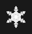 brush painted snowflake vector image vector image