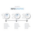 business infographics marketing options icons vector image
