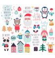 calendar 2019 cute monthly calendar with forest vector image