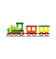 cartoon toy train with colorful blocks isolated vector image