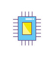 circuit data technology to center server vector image vector image
