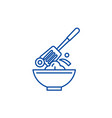cooking line icon concept cooking flat vector image vector image
