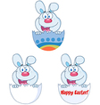 Cute Blue Bunny Collection vector image