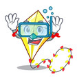 diving kite small the cartoon on table vector image vector image