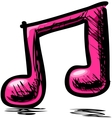 Double music note vector | Price: 1 Credit (USD $1)