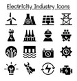 electricity industry icon vector image vector image