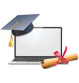 electronic learning concept vector image vector image