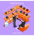 Fashion Moods 02 People Isometric vector image vector image