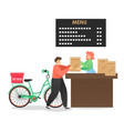 fast food restaurant takeaway and delivery service vector image